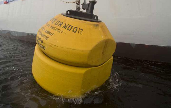 Buoy Deployment - Image by courtesy of Tyco Telecommunications