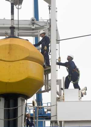 Buoy Stowage - Image by courtesy of Tyco Telecommunications