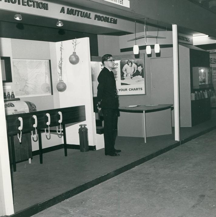 1969  - Cable Damage Committee Exhibition Stand at Oceanolgy Conference 1969 (Image 3) -