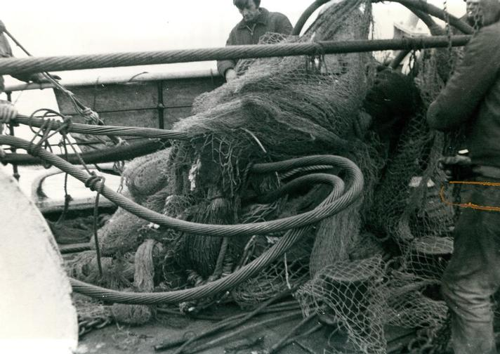 1965 - Cable Damage Recovered to Cable Ship -